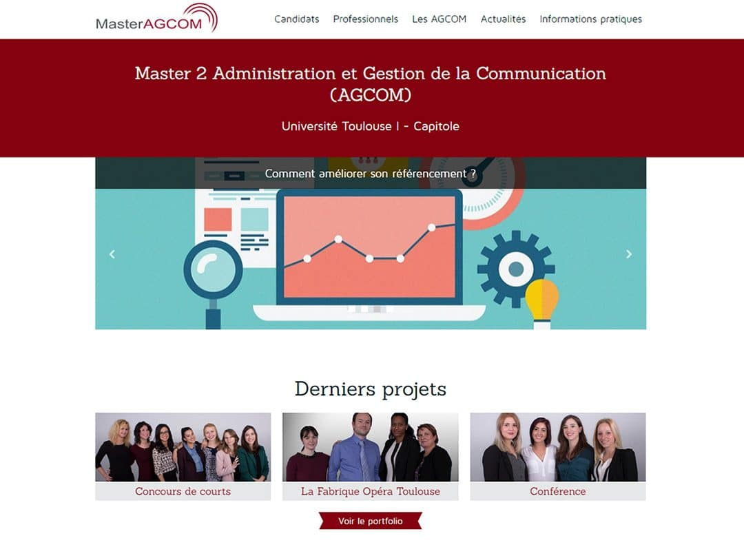 Refonte du site du Master AGCom