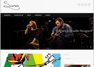 Création du site internet du groupe de blues Scarves