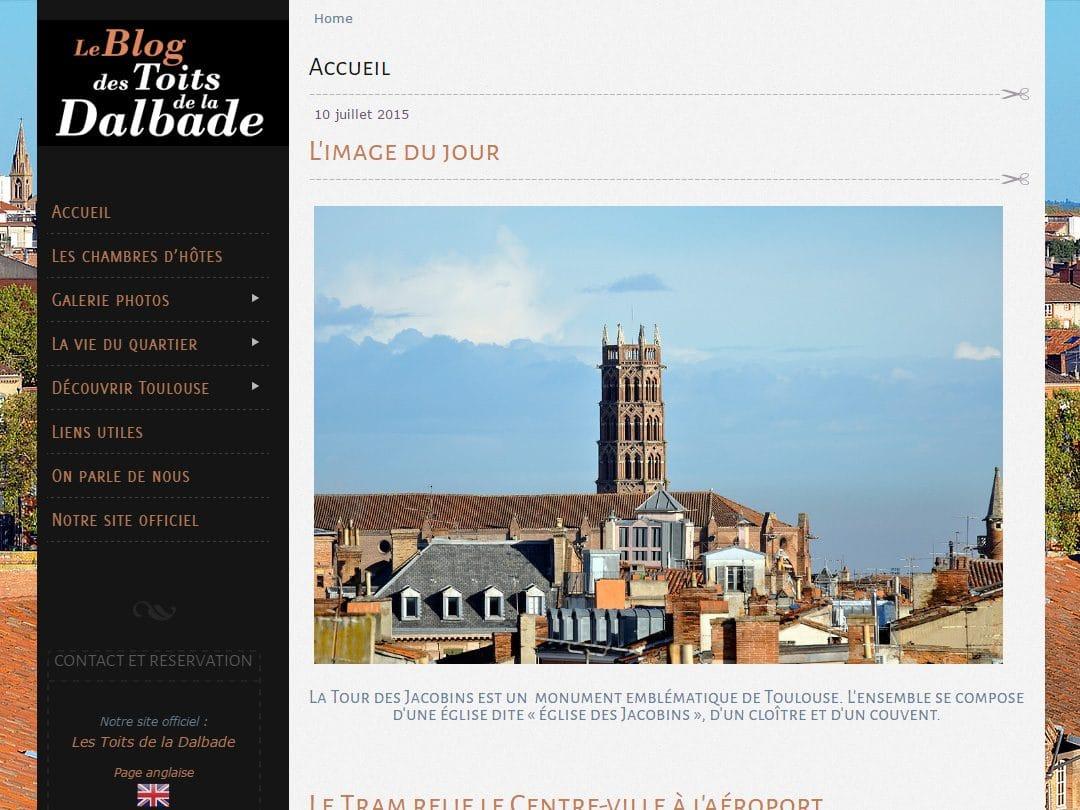Création du blog des toits de la Dalbade