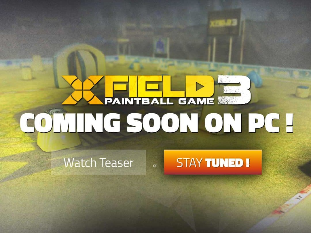 Refonte du site web du jeu mobile XField Paintball