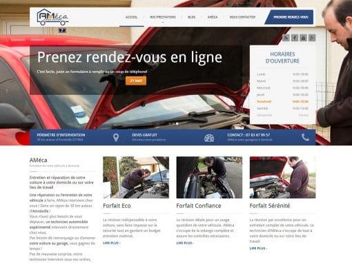 Création du site Ameca, entretien automobile à domicile