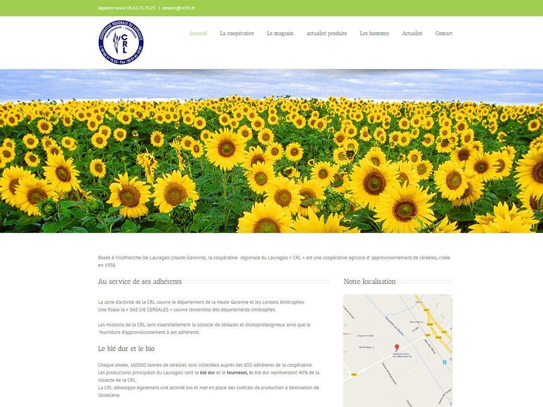 Refonte du site de la Coopérative Régionale du Lauragais