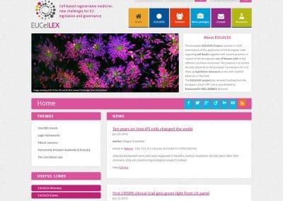 Création du site web du projet européen Eucellex.eu pour l'INSERM
