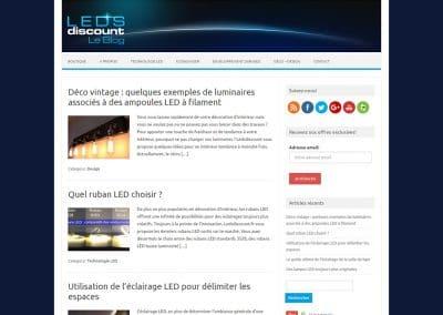 Création du blog de Ledsdiscount