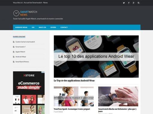 Création d'un blog sur les montres connectées