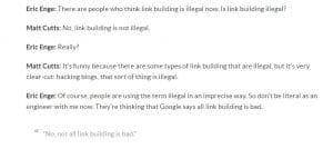 extrait interview de Matt Cutts