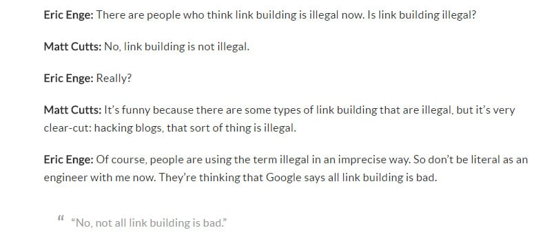extrait interview de Matt Cutts