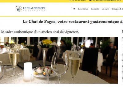 Refonte du site internet d'un restaurant gastronomique