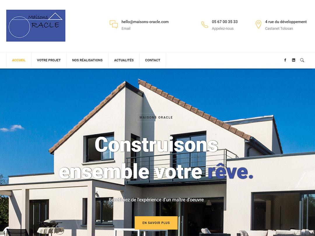 Création du site internet d'un maître d'œuvre